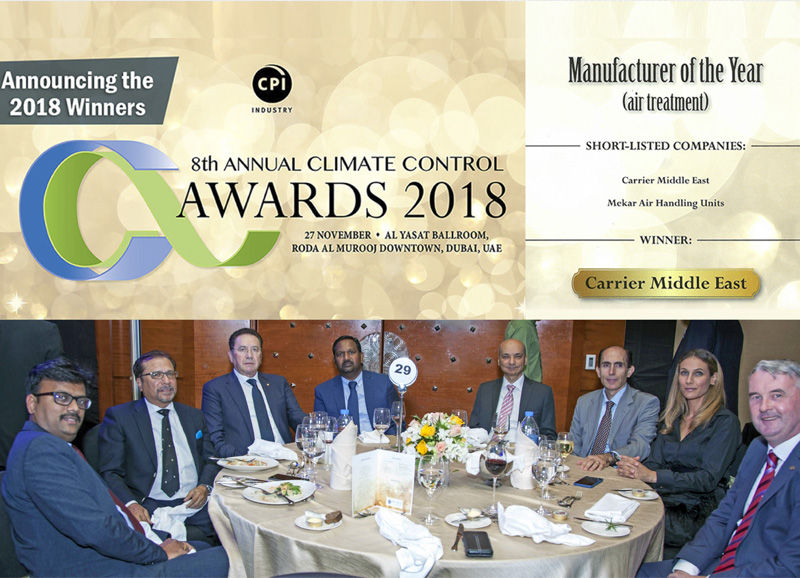 Mekar participates at the Climate Control Awards and reaches the 2nd position