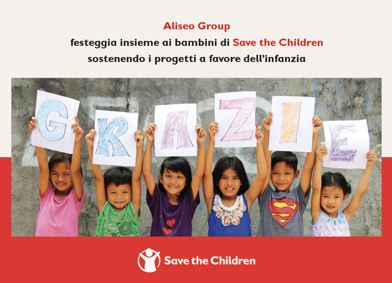 Aliseo Group support Save the Children's projects