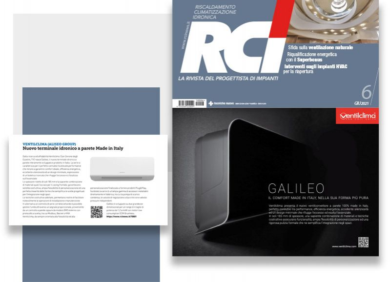GALILEO: il nuovo ventilconvettore a parete 100% made in Italy
